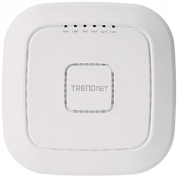TRENDnet AC2200 Tri-Band PoE+ Indoor Wireless Access Point, 867Mbps WiFi AC + 400Mbps WiFi N Bands, Wave 2 MUMIMO, Client bridge, WDS, AP, WDS Bridge, WDS Station, Repeater Modes, TEW-826DAP