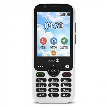 Doro 7010 Unlocked 4G Easy-to-Use Mobile Phone for Seniors with WhatsApp and Facebook (White)
