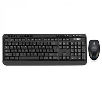 Adesso Desktop Antimicrobial Wireless Desktop Keyboard and Mouse (UK layout)