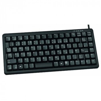 Cherry USB/PS2 Wired Mini Compact Keyboard - Black (German Layout)