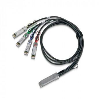Mellanox LinkX - Câble d'attache directe 100GBase - QSFP28 pour SFP28-1.5 m - cuivre hybride/fibre optique - SFF-8402/SFF-8665/SFF-8636/IEEE 802.3by - sans halogène, passif