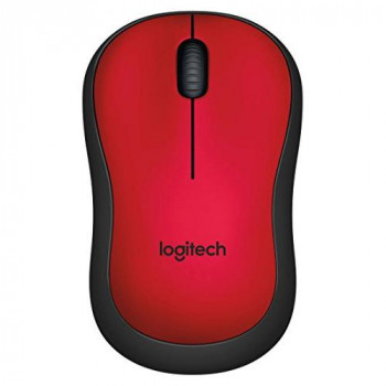 Logitech M220 Ambidextrous Wireless Silent Mouse (Optical Laser, USB for Windows/Mac/Chrome OS/Linux) - Red