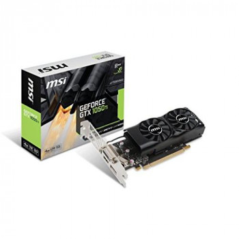 MSI NVIDIA GeForce GTX 1050 Ti 4GT LP 4 GB GDDR5 128 Bit Memory  Express 3 Graphics Card - Black