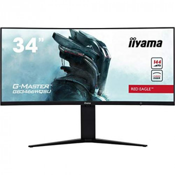iiyama Red Eagle G-MASTER GB3466WQSU 34 inch LED 1ms Gaming Curved Monitor - 3440 x 1440, 1ms Response, Speakers, HDMI