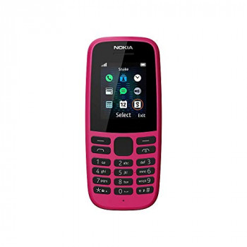 Nokia 105 (2019 edition) 1.77-Inch UK SIM Free Feature Phone (Single SIM) - Pink