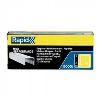 Rapid High Performance Staples, No.13, Leg Length 8 mm, 11835600 - 5000 Pieces - Silver