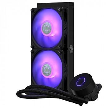 Cooler Master MasterLiquid ML240L V2 RGB CPU Liquid Cooler - Brighter Lighting Effects, 3rd Gen. Pump, Superior Radiator and Dual Advanced 120 mm SickleFlow Fans, Black