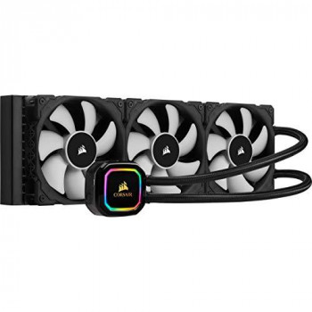 Corsair iCUE H150i PRO XT RGB Liquid CPU Cooler (360mm Radiator, Three 120mm Corsair ML Series PWM Fans, 400 to 2,400 RPM, Advanced RGB Lighting and Fan Control with Software, Easy to Install) Black