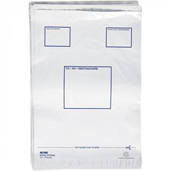 Blake PE44/W C4+ Purely Packaging Polythene Pocket Peel and Seal - White