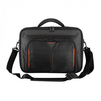 Targus CN414EU Classic+ Clamshell Laptop Bag / Case fits 14.3 inch Laptops, Black
