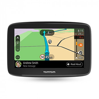TomTom Car Sat Nav GO Basic, 5 Inch with Updates via Wi-Fi, Lifetime Traffic via Smartphone and EU Maps, Smartphone Messages, Resistive Screen
