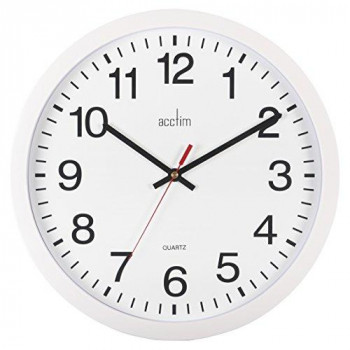 Acctim 93/ 704 Controller Wall Clock, White