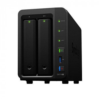 Synology DS718+ 16TB (2 x 8TB WD RED) 2 Bay Desktop NAS Unit