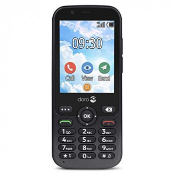 Doro 7010 Unlocked 4G Easy-to-Use Mobile Phone for Seniors with WhatsApp and Facebook (Graphite)