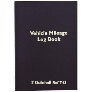 Guildhall T43Z Vehicle Mileage Log Book 60 Pages, 149 x 104 mm - Black