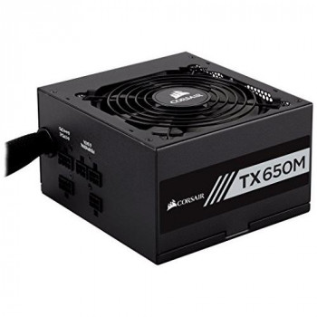 Corsair CP-9020132-UK TXM Series 650 W TX650M ATX/EPS Semi-Modular 80 PLUS Gold Power Supply Unit - Black