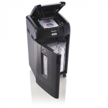 Rexel Auto+ 750X Cross Cut Paper/CD/Credit Card Shredder with 750 Sheet Capacity - Black/Silver