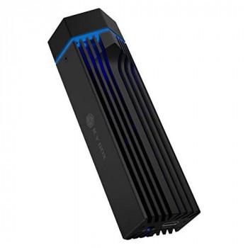 ICY BOX M.2 NVMe 60713 RGB Lighting USB 3.1 Gen2 (10Gbps) for M.2 SSD Aluminum Black