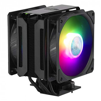 Cooler Master MasterAir MA612 Stealth ARGB CPU Air Cooler - Push-Pull SickleFlow 120 V2 ARGB Fans, 6 Heat Pipe Array, Unlimited RAM Clearance, Controller Included - Universal Socket Compatibility