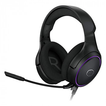 Cooler Master MH650 RGB Gaming Headset with Virtual 7.1 Surround Sound - Cross-Platform Compatible with 50mm Neodymium Audio Drivers, Ultra-Clear Boom Mic and Portable Frame - USB Type A