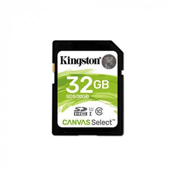 Kingston Canvas Select Plus V30 32GB SD Class 10 UHS-I U3 Flash Card