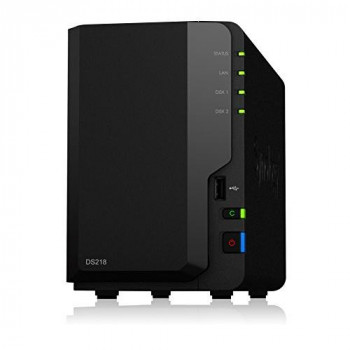 Synology DS218 2TB (2 x 1TB WD RED) 2 Bay Desktop NAS Unit