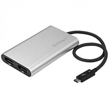 StarTech Thunderbolt 3 to Dual DisplayPort Adapter - 4K 60Hz - Mac and Windows Compatible