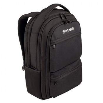 "Wenger 600630 FUSE 16"" Laptop Backpack , Padded laptop compartment with iPad/Tablet / eReader Pocket in Black {20 Litres}"