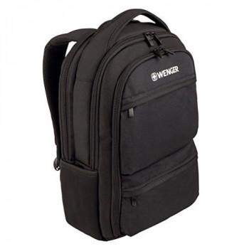 "Wenger 600630 FUSE 16"" Laptop Backpack , Padded laptop compartment with iPad/Tablet / eReader Pocket in Black {20 Litres}"
