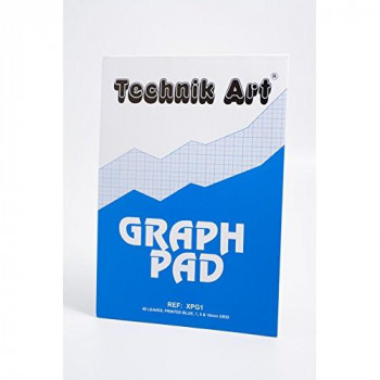 Clairefontaine Technik Art Graph Pad, A4, 1, 5, 10 mm, 40 Leaves