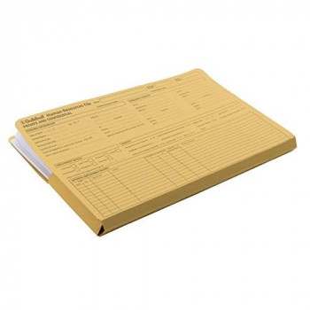 Guildhall Pre-Printed HR File - Yellow (Pack of 50)