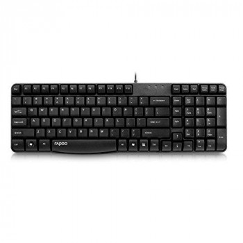 Rapoo N2400 Wired Spill-resistant Keyboard Black UK Layout