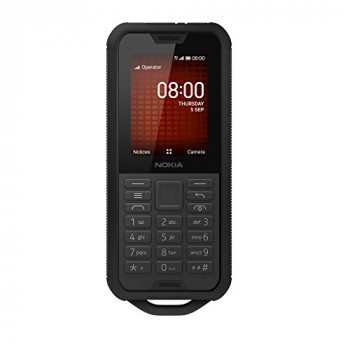 Nokia 800 Tough 2.4-Inch 4G UK SIM-Free Feature Phone with Google Assistant (Single-SIM) - Black