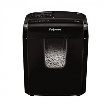 Fellowes Powershred 6C Personal 6 Sheet Cross Cut Paper Shredder for Home Use with Safety Lock
