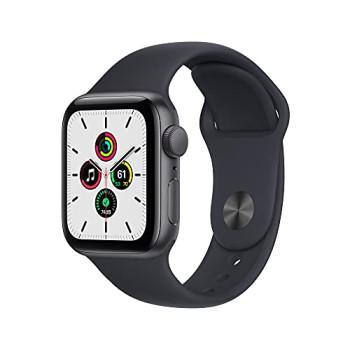 2021 Apple Watch SE (GPS, 40mm) - Space Grey Aluminium Case with Midnight Sport Band - Regular