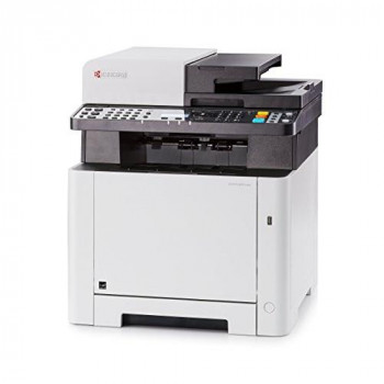 KYOCERA ECOSYS M5521cdw Colour Laser Multifunction Printer A4 (4-in-1 duplex Print, Copy, Scan, Fax) 1200x1200 dpi WiFi and Wi-Fi Direct, Apple AirPrint, Google Cloud Print, Mopria, 5-line LCD, 50-sheet ADF (automatic document feeder)