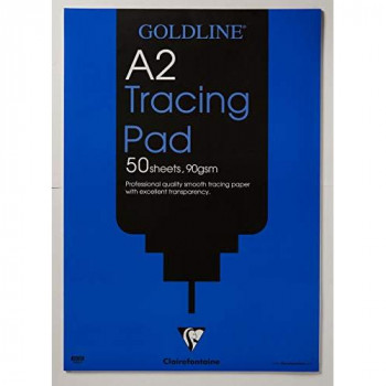 Clairefontaine Goldline Professional Tracing Pad, A2, 90 gsm, 50 Sheets