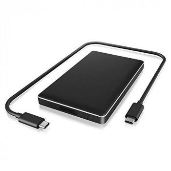 """ICY BOX""""Boitier Adaptateur IB-245-C31-B pour disque dur 2""""1/2 SATA - USB 3.1 Type C (Noir)"""""""