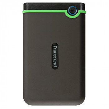 Transcend Slim StoreJet 25M3S 500GB Rugged External Hard Drive with Excellent anti-shock protection and lightning-fast transfer speeds
