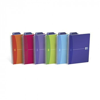 Oxford Office A5 Transluscents Wirebound Poly Cover Notebook (Pack of 5)