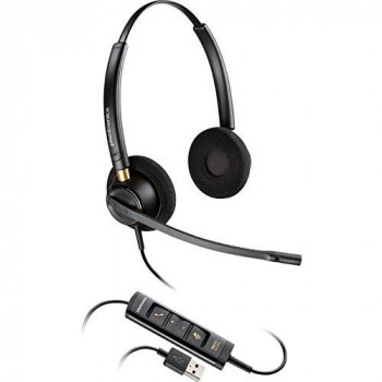 Plantronics EncorePro HW525 Head-band Black headset - headsets (Wired, USB, Call center/Office, Supraaural, Head-band, Black)