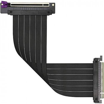 Cooler Master MasterAccessory Riser Cable PCIe 3.0 x16 Ver. 2 - EMI Shielded, Ultra-flexible TPE Cable, Reinforced PCI Slots, Gold Pin Connectors, Protective ABS Casing - 300mm