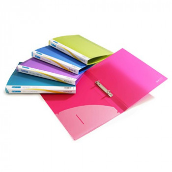 Rapesco 0799 2-Ring Binder, A4 - 15mm Capacity -  Multicolor, Pack of 10