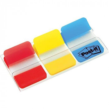 Post-It Index Tabs - Assorted Red Yellow and Blue