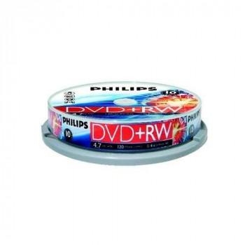 Philips DVD+RW 4.7GB (4x) 10pk Spindle