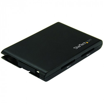 StarTech.com 2SD4FCRU3C Dual Slot SD Card Reader/Writer - Black