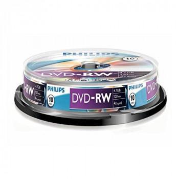 Philips DVD-RW 4.7GB Data/120 Min Video, 4x Speed Recording 10er Spindel