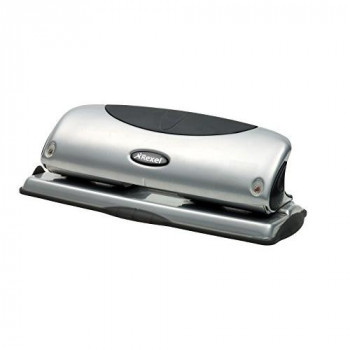 Rexel Precision P425 4 Hole Punch Black/Silver 25 Sheet Capacity and Paper Alignment Indicator