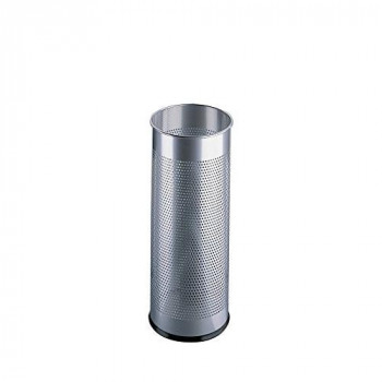 Durable Atlanta Umbrella Stand Tubular Metal Perforated 28.5 Litre - Silver Ref A2900-02618