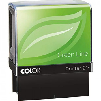 COLOP Printer 20 Paid Green Line Stamp - Red Ink